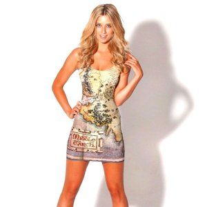 The Hobbit Map/ Middle Earth bodycon Blackmilk S